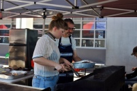 Ruby and Robert cooking up a storm